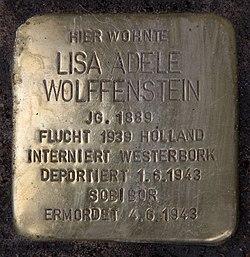 Photo of Lisa Adele Wolffenstein brass plaque