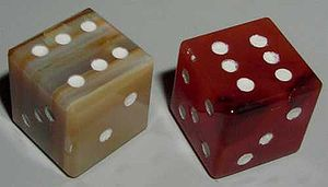Cube - These familiar six-sided dice are cube-shaped.