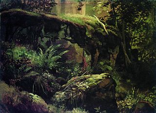 Stones in the Forest. Valaam