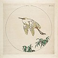 Stork Flying Above Branches (Decoration for a Plate) MET DP814349.jpg