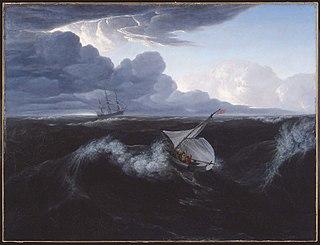 Levée de tempête en mer