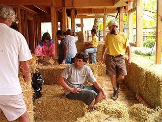 Natural building - Straw bale construction in Santa Cruz, CA