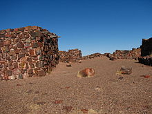 Structures made of petrified wood (Petrified Forest National Park, 2006) (2).jpg