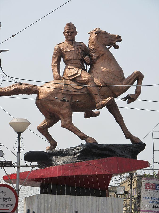 Subhas Chandra Bose statue (Shyambazar, Kolkata)