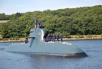 Italian submarine Scirè (S 527) - Scirè arrives in Connecticut, on 27 August 2009