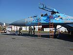 Sukhoi Su-27UBM1 of the Ukrainian Air Force during SIAF 2016 at Sliač Air Base, Slovakia.jpg