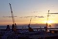 Sunset - Harbour of Genoa seen from Piazzale di San Francesco D'Assisi - Genoa 2014 (5).jpg