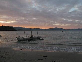 San Vicente, Palawan - Sunset in Port Barton
