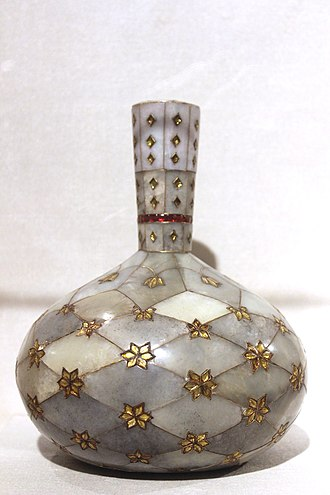 Decorative arts - Surahi, Mughal, 17th Century CE. National Museum, New Delhi