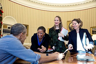 Avril Haines - L to R: Susan E. Rice, Avril Haines and Lisa Monaco, (2015)