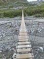 Suspension bridge over College Creek, west of Gulkana Glacier, near Richardson Highway, August 11, 2013.jpg