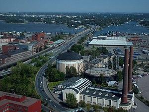 Suvilahti - Suvilahti from the air in 2006.