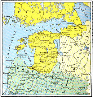 Viborg and Nyslott County - Provinces of the Swedish Empire around the Gulf of Finland in the 17th Century.