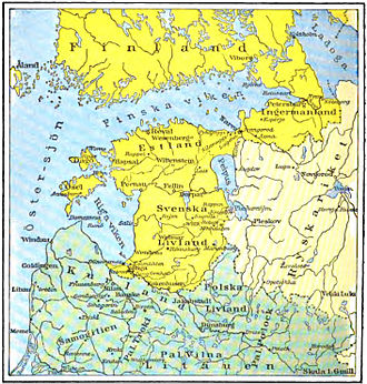 Kexholm County - Provinces of the Swedish Empire around the Gulf of Finland in the 17th Century.