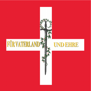 Military mobilisation during the Hundred Days - Image: Swiss flag Bachmann 1815
