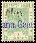 Switzerland Bern 1893 revenue 1Fr - 56 X-93.jpg