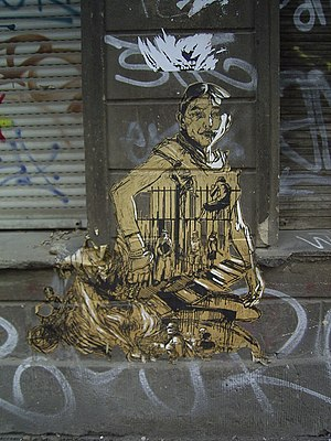 Swoon (artist) - A work by Swoon in Berlin