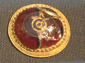 Staffordshire Hoard - Sword fitting with garnet