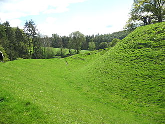 Sycharth - Sycharth from field, showing motte