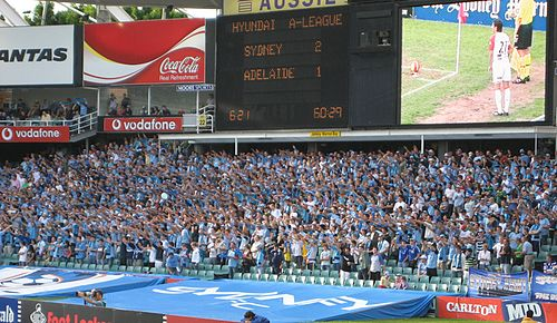 Sydney supporters at the northern end at the Allianz Stadium Sydneyfc cove.jpg