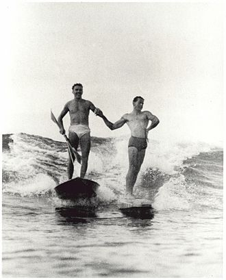 Surfing - Synchronized surfing, Manly Beach, New South Wales, Australia, 1938–46