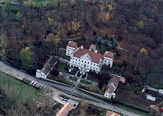 Nógrád County (former) - Szirák – Palace from above