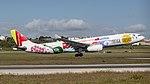 TAP A330-300 rocketing out of Lisbon (46640476515).jpg