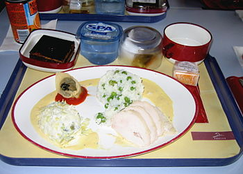 Free lunch as served in the 1st class aboard a...