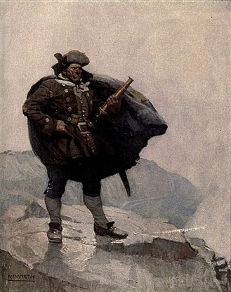 Billy Bones - Illustration by N. C. Wyeth for 1911 edition.