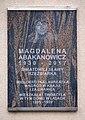 Tablica Magdalena Abakanowicz al. Stanów Zjednoczonych 16.jpg