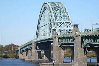 Palmyra, New Jersey - View of Tacony-Palmyra Bridge between Palmyra, NJ and Philadelphia, PA