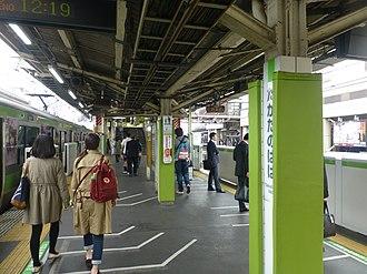 Takadanobaba Station - Image: Takadanobaba Station JR Yamanote line March 30 2016