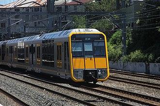 Main Suburban railway line - Sydney Trains Tangara at Newtown