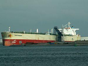 Tantramar - IMO 9133850 - Callsign A8BI3 at the '8e Petroleumhaven', Port of Rotterdam, Holland 20-Jun-2006.jpg
