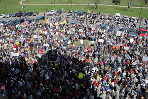 Tea Party protests - A Tea Party protest in Hartford, Connecticut, on April 15, 2009.