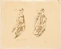 Teckning-Galjonsbild Mercurius, samt kvinnlig bild - Sjöhistoriska museet - SB 1419-a.tiff
