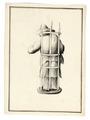 Teckning på figur i trasiga kläder, 1700-tal - Skoklosters slott - 99022.tif