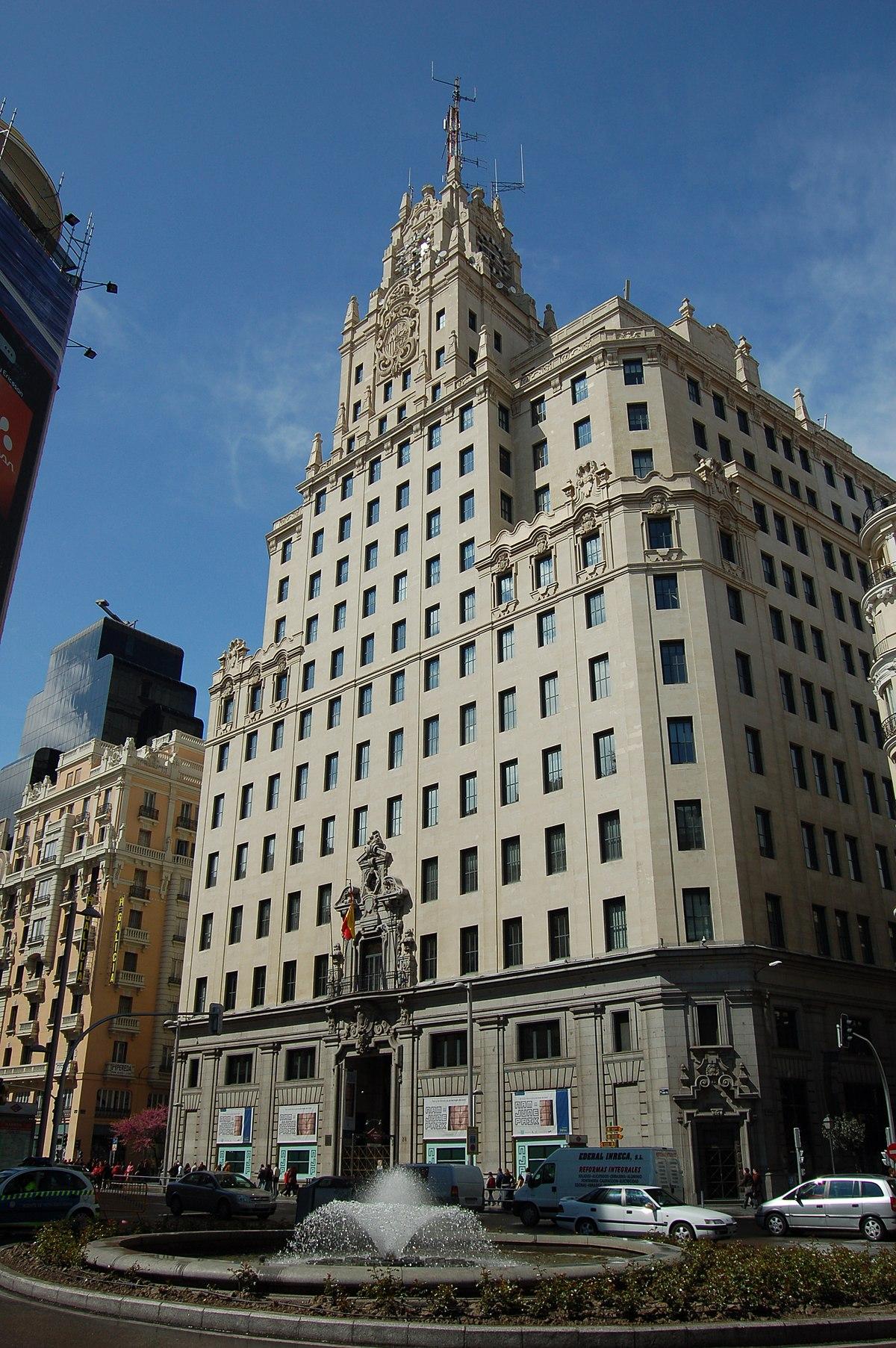 Edificio telef nica wikipedia la enciclopedia libre - Empresas de construccion en madrid ...