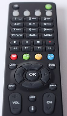 Television remote control - black colour.jpg