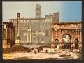 Temple of Saturn and Triumphal Arch of Septimus Severus, Rome, Italy-LCCN2001700933.tif