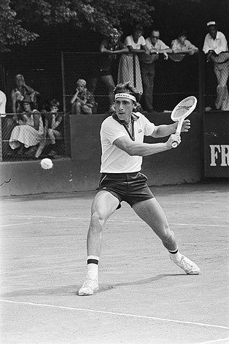 Corrado Barazzutti - Barazzutti playing Australian David Carter in the third round of the 1978 Dutch Open in Hilversum.