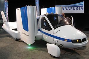 Flying car (aircraft) - Production Prototype of Terrafugia Transition at the N.Y. Int'l Auto Show in April 2012