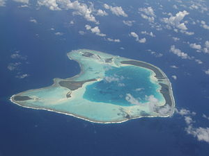 Tetiaroa - Aerial view of the island of Teti'aroa