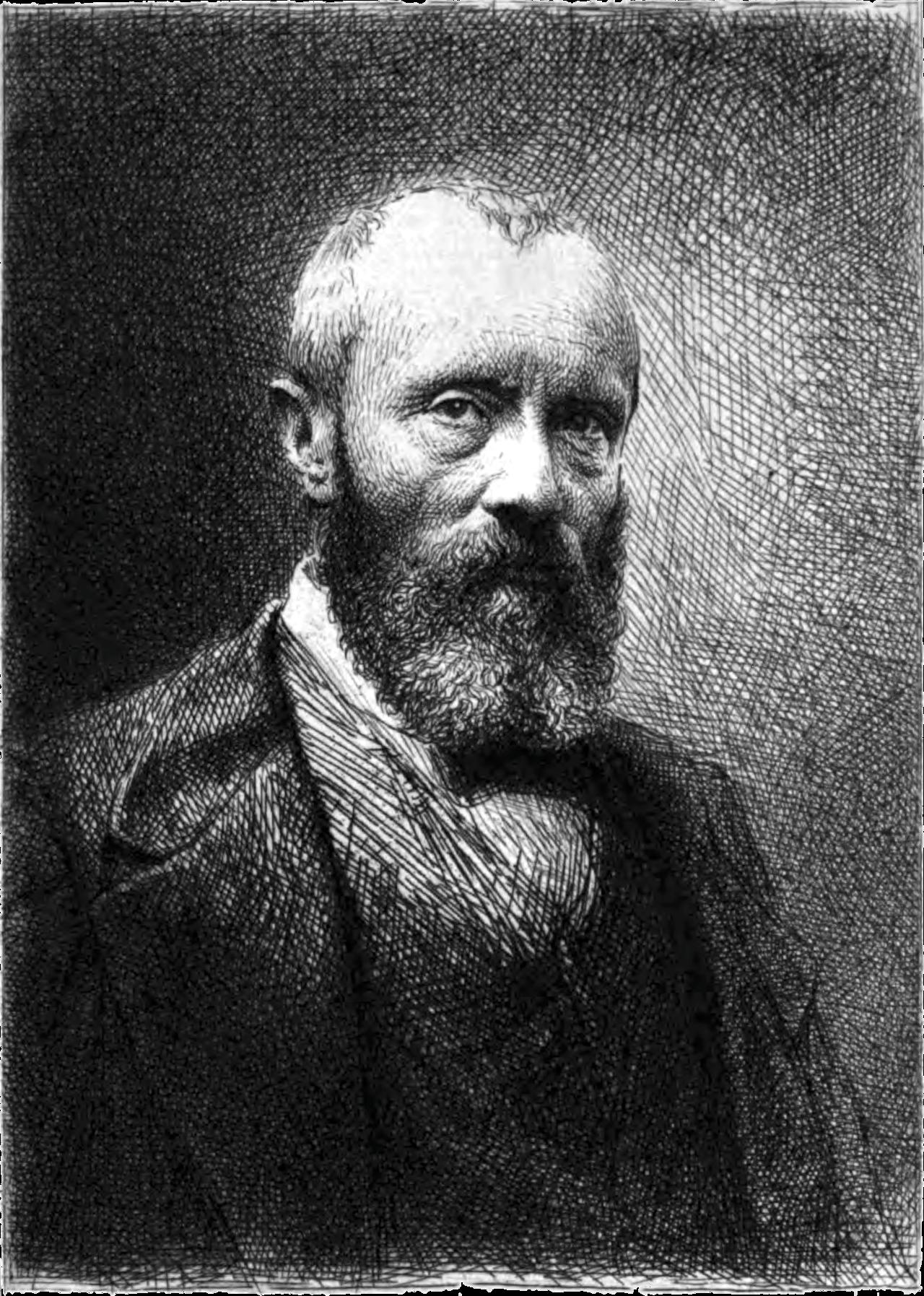 Engraving of Théophile Thoré-Bürger (1807-1869), French art critic