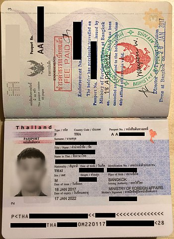 Thai passport - Wikipedia