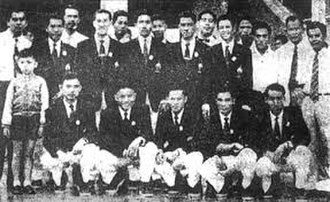 Thailand national football team - Thai team at the 1956 Olympics, Melbourne before its biggest defeat by the United Kingdom.