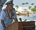 The 69th anniversary of the end of World War II aboard the Battleship Missouri Memorial 140902-N-WF272-072.jpg