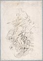 The Assumption of the Virgin (recto); Architectural Notations (verso) MET DP809474.jpg