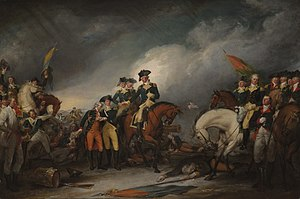 Hessian (soldier) - The Capture of the Hessians at Trenton, December 26, 1776, by John Trumbull, shows General Washington ordering medical help for the mortally wounded Hessian Colonel Johann Rall