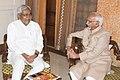 The Chief Minister of Bihar, Shri Nitish Kumar calling on the Vice President, Shri Mohd. Hamid Ansari, at Patna, Bihar on September 25, 2013.jpg